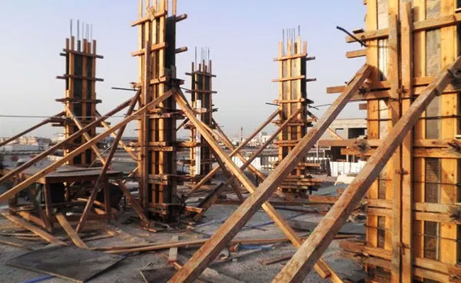 Construction Method for RCC Column