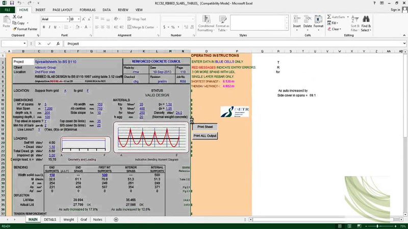 spreadsheets for Civil and Structural Engineers