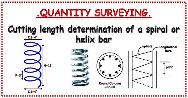 Cutting Length of a Spiral Bar | Spiral or Helix Bar